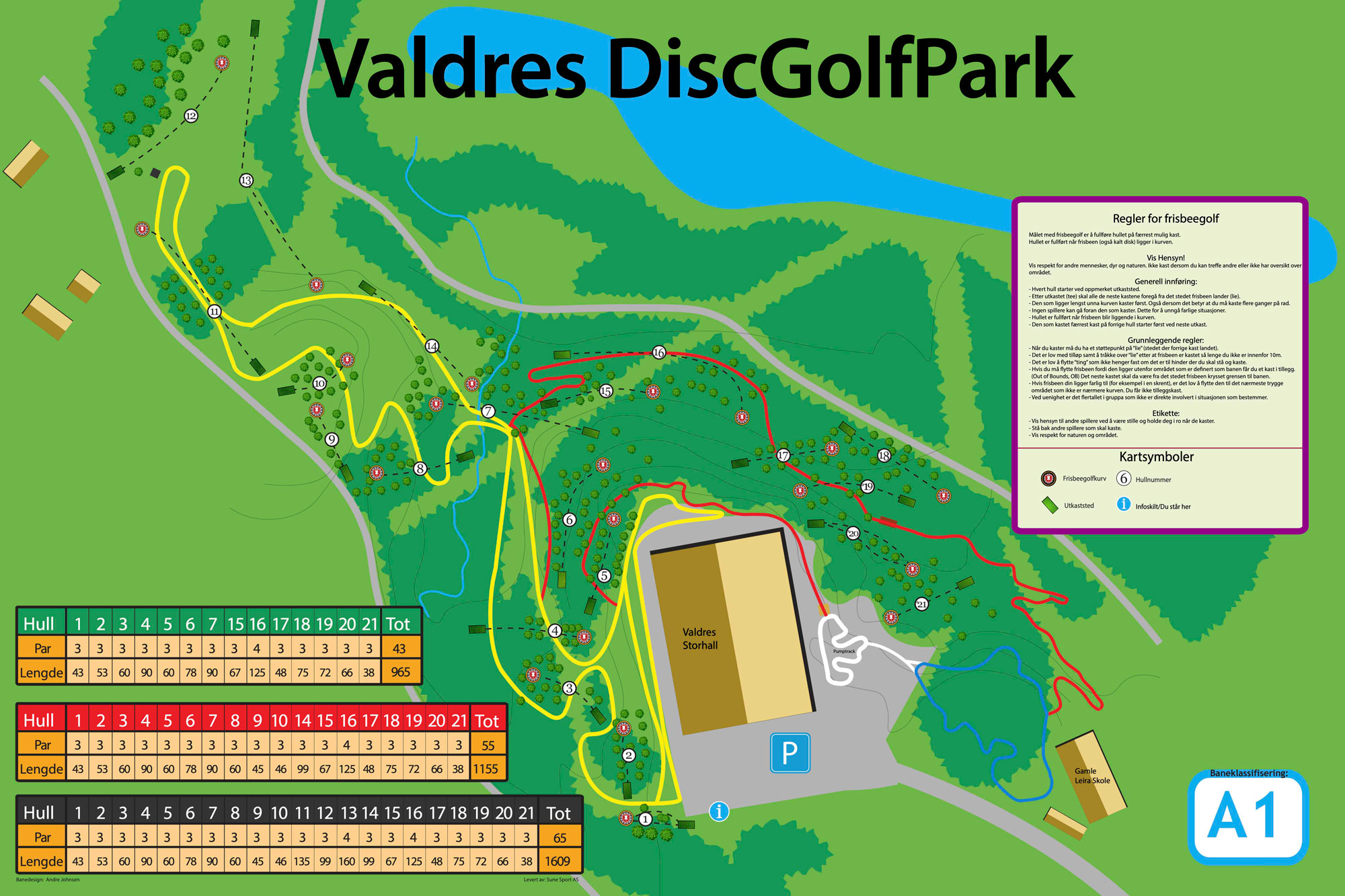 Discgolfbane i Valdres